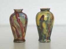 Antique pair of M B Limoges Miniature Vases c 1890