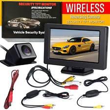 "Wireless Car Reversing Camera Kit Rear View LCD Monitor 4.3"" +HD Night Vision UK"