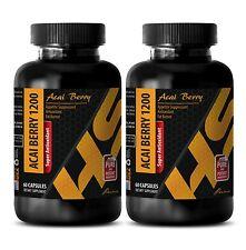 Extreme weight loss pills - SUPER ANTIOXIDANT ACAI BERRY 1200 Detox drink 2Bot