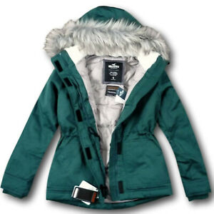 NWT Hollister by Abercrombie&Fitch Women's Thermore Anorak Jacket Green