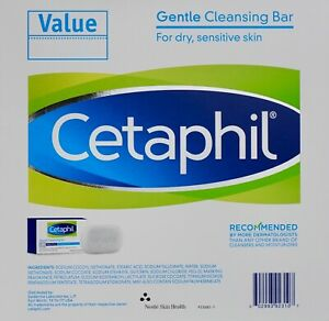 Cetaphil Gentle Cleansing Bar Face Full Body Non-Soap, 1 2 3 or 6 Bars