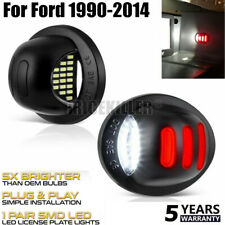 2PC LED License Plate Tag Light Lamp Red White For 1999-16 Ford F250 F350 Pickup