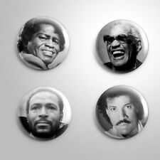4 MALE SINGERS SOUL -  Pinbacks Badge Button 25mm 1''..