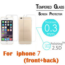 Real Tempered Glass Film Screen Protector Saver Front & Back for iPhone 7 4.7''
