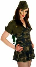 WOMANS SPECIAL FORCES SEXY ARMY GIRL UNIFORM ADULT FANCY DRESS COSTUME OUTFIT