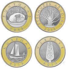 Lithuania  4 coin set 2 Litai UNC , 2013