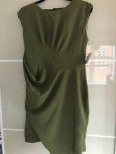 ASOS plain olive dress Christmas Party NYE Brand New uk 14