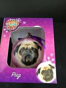 Home Decor Pug  Christmas Baubles Dog