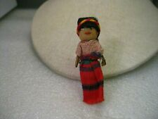 """Vintage Hand Made Ethic Fabric Doll Brooch, Colombia/Peruvian 2.5"""""""