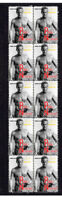 PAUL NEWMAN HOLLYWOOD ICON STRIP OF 10 MINT VIGNETTE STAMPS 4
