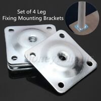 4PCS 12 Degree Furniture Leg Mounting Plates Metric M8 for Table Chair Cabinet