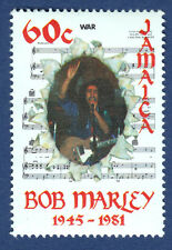 BOB MARLEY JAMAICA STAMP WAR 1981 Music Notes MNH Original Island UNUSED Postage