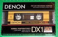 DENON DX-1  60  VS. I  BLANK CASSETTE TAPE (1) (SEALED)