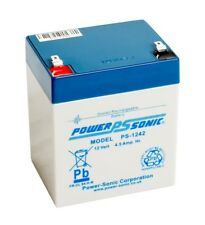Power-Sonic 12v 4.5ah AGM Lead Acid Rechargeable Battery PS1242 Batteries