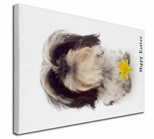 More details for 'happy easter' shih-tzu+daffodil x-large 30