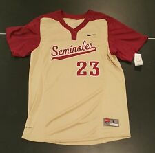 NWT Nike Dry Fit Florida State Seminoles NCAA Baseball Sewn Jersey Mens Large C5