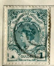NETHERLANDS;  1891 early classic Wilhelmina issue used 1G. value