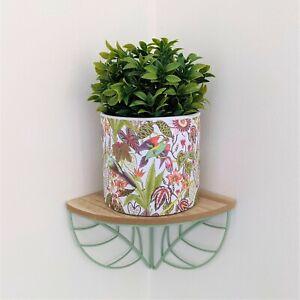 13.5cm Paradise Birds Floral Ceramic Indoor Plant Pot Holder Herb Cover Planter