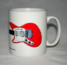 Guitar Mug. Kurt Cobain's Fiesta Red Fender Jag-Stang Illustration.