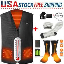 Outdoor Electric Heated Vest Warm Body USB Winter Clothing Socks/Jacket Unisex