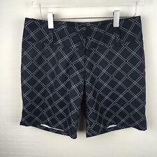 Adidas Shorts 2 Womens Navy Blue Windowpane Print Golf