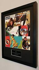 Oasis Framed Original Programme-Plaque-Certificate-Very Rare-Liam Gallagher