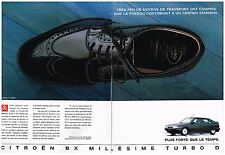 Publicité Advertising 1991 (2 pages) La Citroen BX Millésime Turbo D