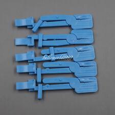 5 Pcs 125cm Dental X Ray Film Clamp Head Clip Holder Radiograph Plastic Blue