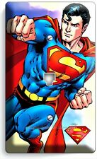 SUPERMAN SUPERHERO PHONE JACK TELEPHONE WALL PLATE COVER BOYS BEDROOM HOME DECOR