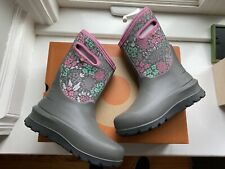 bogs girls k neo classic gray winter snow boots size 5 youth new