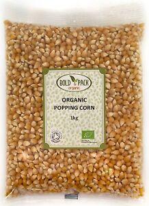 Organic Popping Corn   Bold & Pack   Kernels, No Additives, Vegan, GMO free, Raw