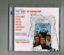 THE GUNS OF NAVARONE CD ORIGINAL MOVIE SOUNDTRACK DIMITRI TIOMKIN GREGORY PECK