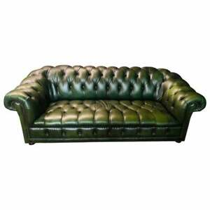 Original Green Chesterfield Sofa from The 80er Years