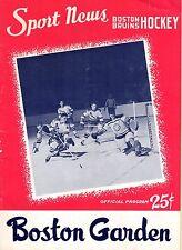 1958-59 (Dec. 25) NHL Hockey Program, Chicago Blackhawks @ Boston Bruins, ~ Good