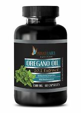 Oregano Oil 1500mg - Supports Digestive Respiratory Joint Health - 60 Capsules