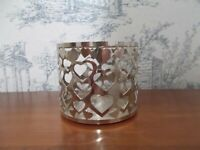 Bath & Body Works 3 Wick Valentine Heart Candle Holder