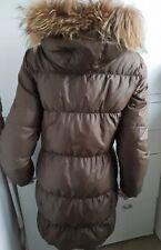 Daunen Mantel mit Kapuze Jacke Rene Lezard Braun Gr.M 38 Daun coat brown NP 600€