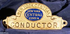 New York Central System CONDUCTOR Cap Badge