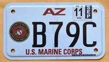 "ARIZONA "" U.S. MARINE CORPS "" MOTORCYCLE MC Military Specialty License Plate"