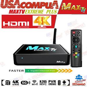 MAXTV XTREME PLUS 5G 4K Quad Core 64 Bit With Voice Control Through the Remote.