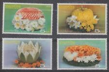 Tailandia 2007 # 2277-80 Tallado De Frutas Y Verduras-estampillada sin montar o nunca montada