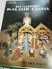 LOT OF 5 PLASTIC CANVAS Christmas Project Books / Patterns Nativity Ornaments +
