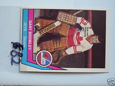 HOCKEY CARD O PEE CHEE 1977-78 WHA KEN BRODERICK QUEBEC NORDIQUES NM TO MINT KB1