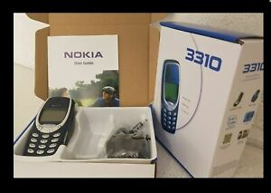 UNLOCKED MINT NOKIA 3310 MOBILE WITH MAINS PLUG AND FREE SIM CARD