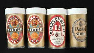 Insulated 1960s Beer Mugs x 4 Plastic Newlyne Beakers 2 different Labels per Mug