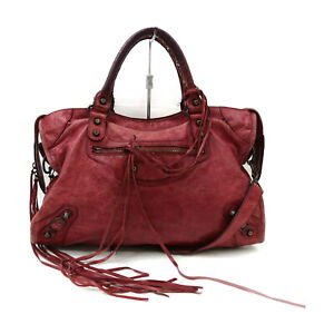 BALENCIAGA Tote Bag The City Reds Leather 1519669