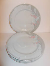 4 x Trisa Fine China Floral Design Dinner Plates - Made in China - Lovely