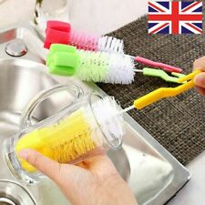360-degree Rotating Baby Nipple Pacifier Wash Cleaning Milk Bottle Brush New