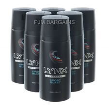 LYNX SPORT BLAST DEODORANT BODY SPRAY 150ML CAN 6 PACK