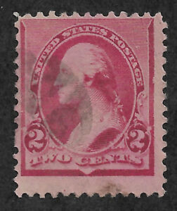 US # 220v (1890) 2c - Used  - Fine  EFO: Closed #2 on right